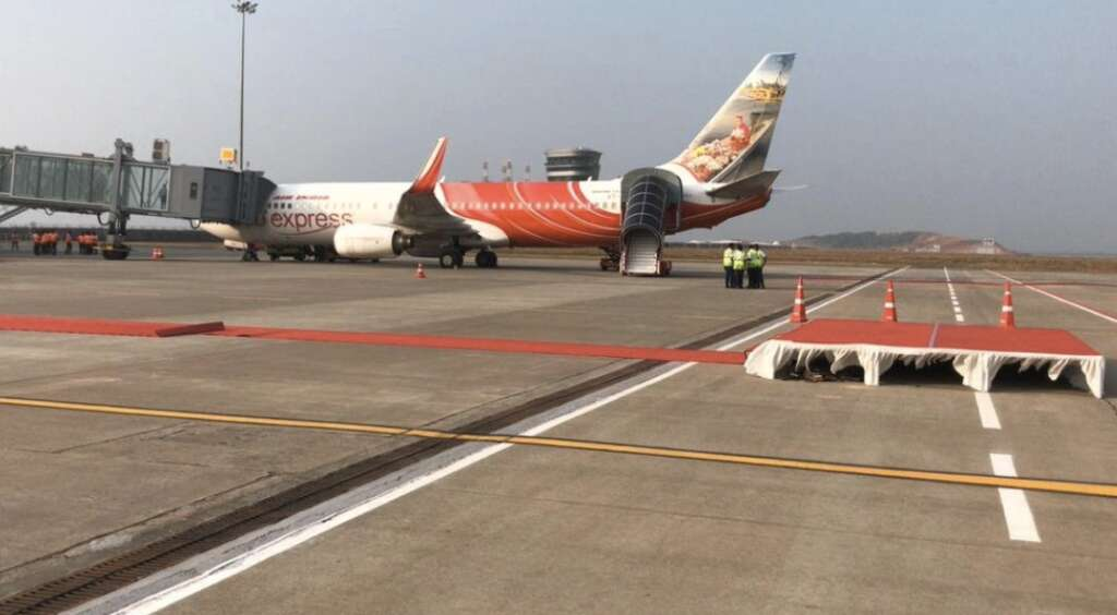 First flight from Kerala's new airport lands in Abu Dhabi