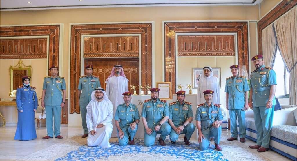 ajman police, congratulated, ajman ruler, crown prince, awards