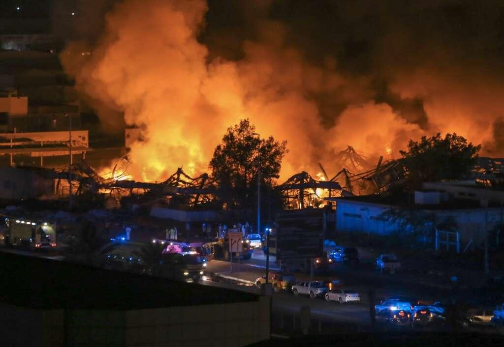 Lebanon, Ajman fire