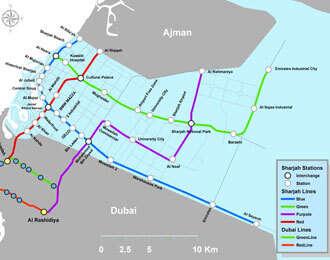 Dubai Subway Map.Would You Like A Metro Service For Sharjah Khaleej Times