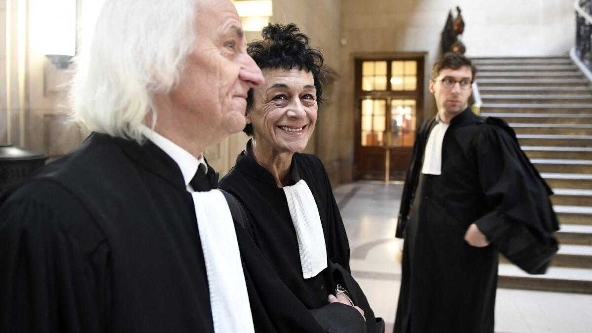 File photo of Isabelle Coutant-Peyre (centre), French lawyer and wife of Venezuelan Ilich Ramirez Sanchez, aka Carlos the Jackal, and Swiss lawyer Marcel Bosonnet at Carlos' trial in Paris. – AFP