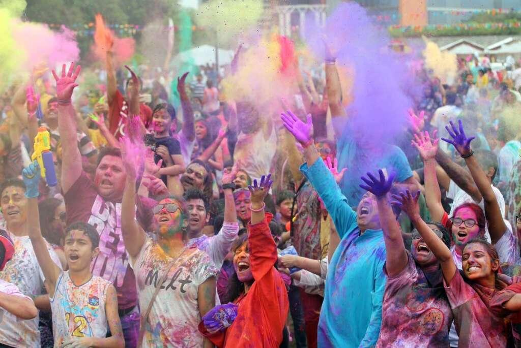 Indian expats in Abu Dhabi celebrate festival of Holi