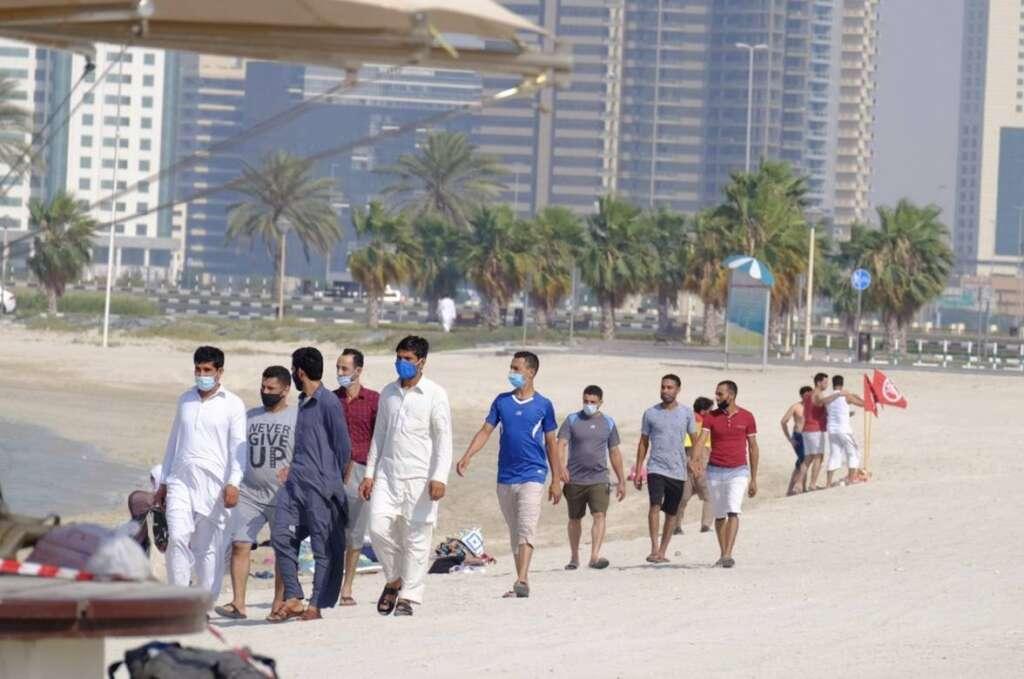 Dubai, beachgoers, UAE, Residents