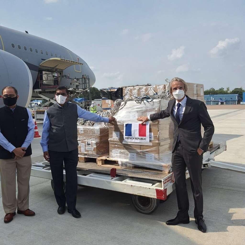 French air force, jet, ventilators, tens of thousands, coronavirus, Covid-19, test, kits, to help, India, Indian Red Cross