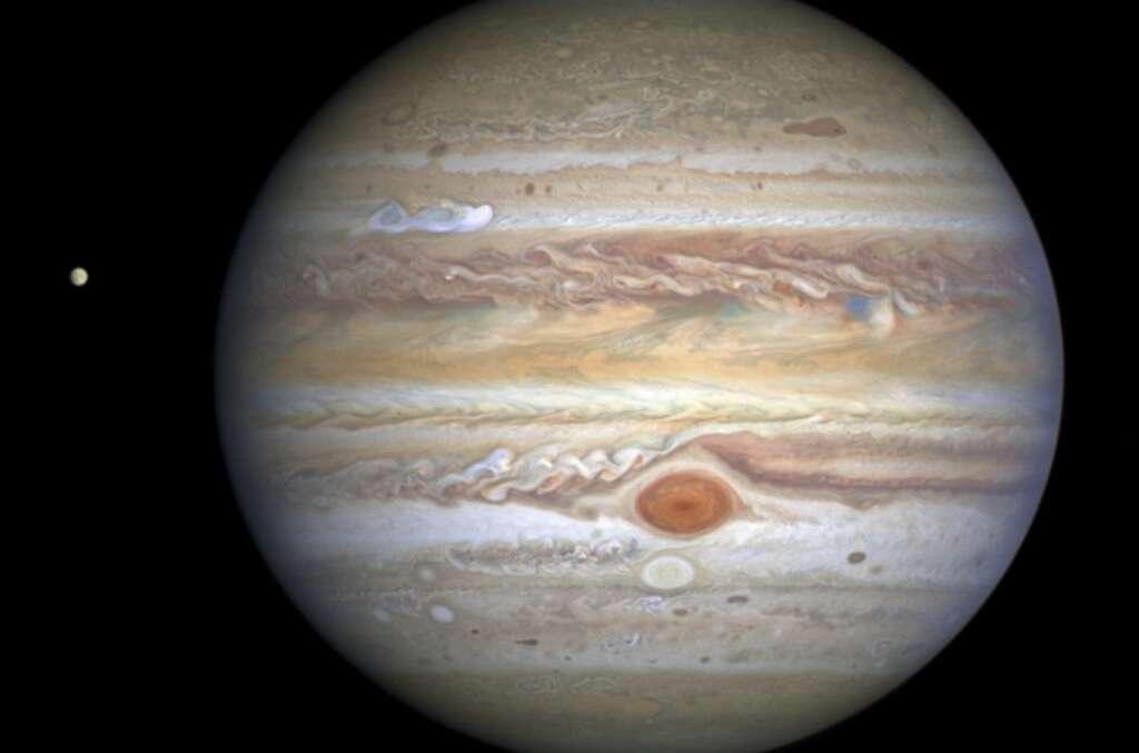 Jupiter, Europa, Hubble photo