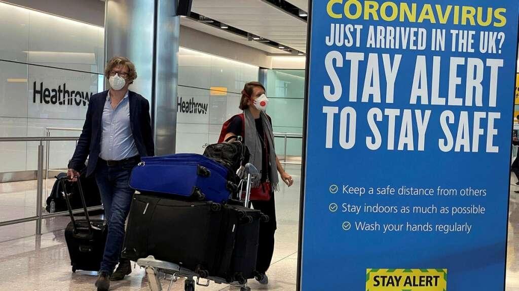 British Airways, easyJet and Ryanair,  14-day quarantine, quarantine