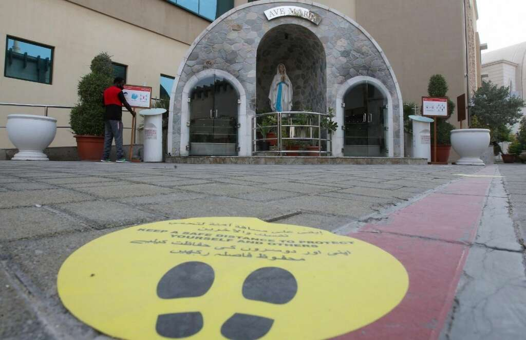 Catholic church, Abu Dhabi, prepares, reopen, July 20
