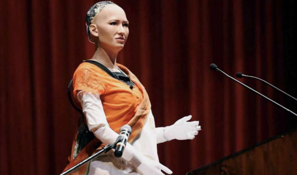 Video: Robot citizen Sophia gets marriage proposal in India