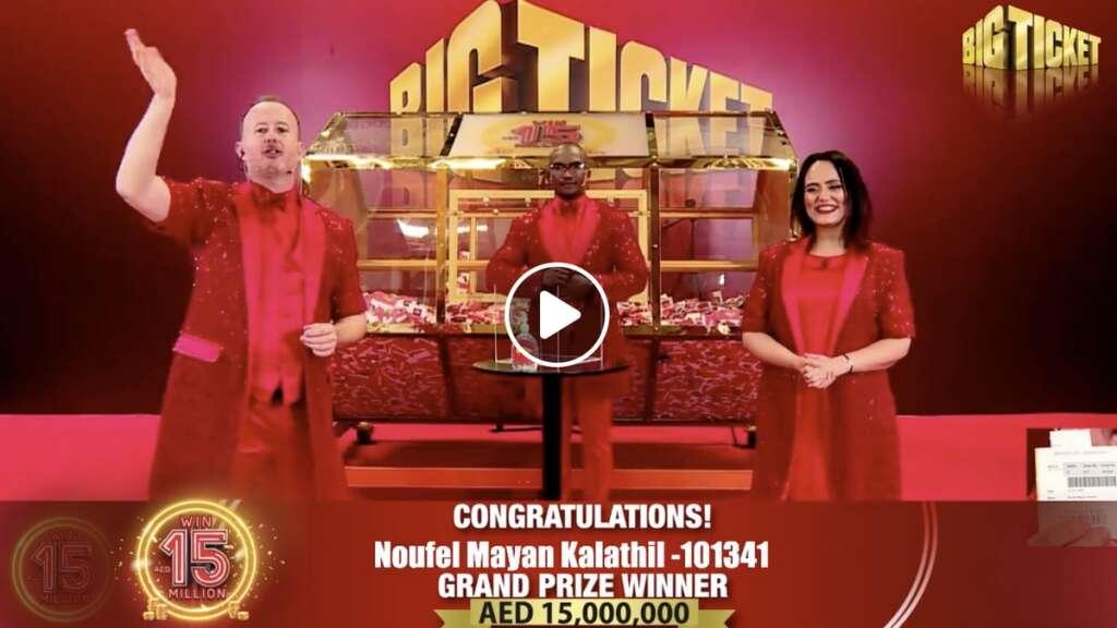 Indian expat, wins, Dh15million, Abu Dhabi raffle