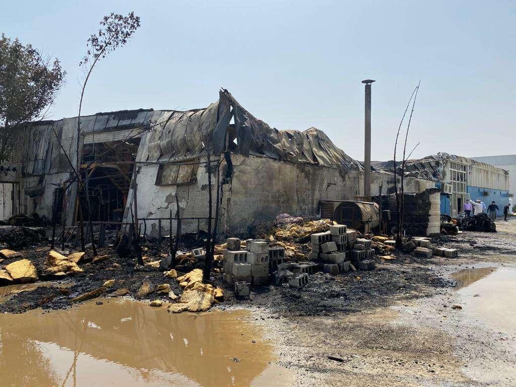 ajman, fire, warehouse, Ajman Civil Defence