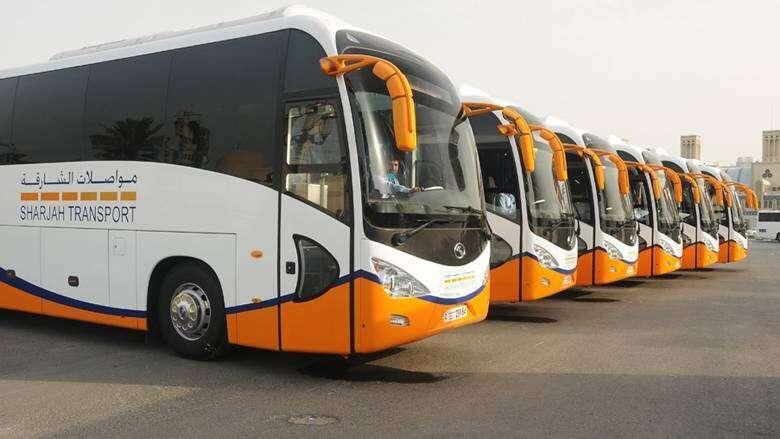 Sharjah, intercity, buses, resume, September 15, 50% capacity