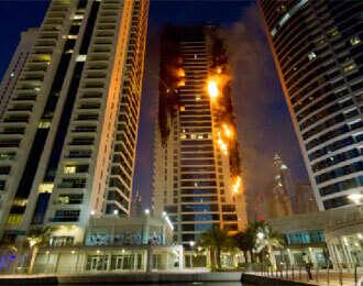 600 evacuated from burning Tamweel Tower