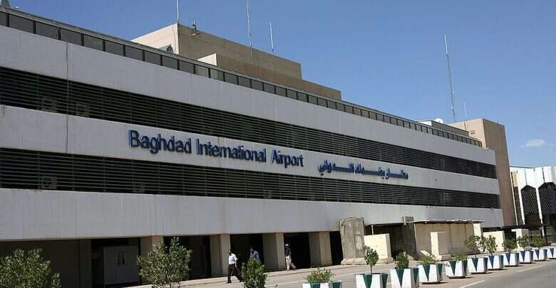 Two, rockets, landed, perimeter, Baghdad International Airport, Iraqi military