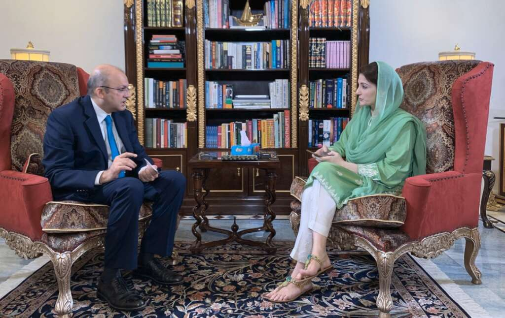 Video: Maryam Nawaz's interview 'forcefully' stopped within minutes