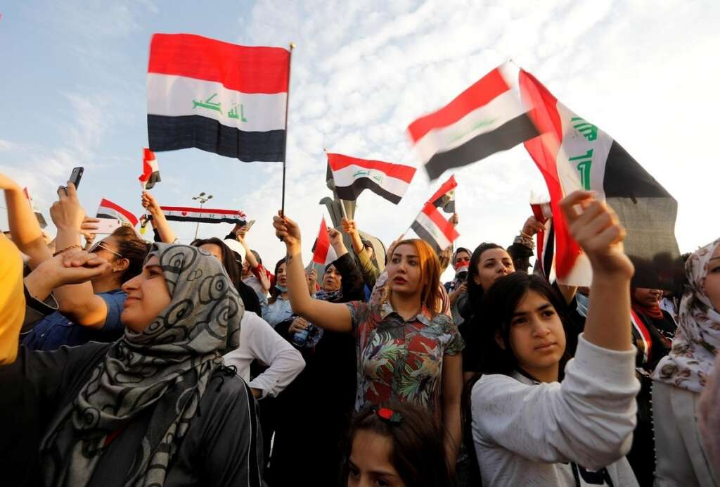 iraq, cleric, attack protesters