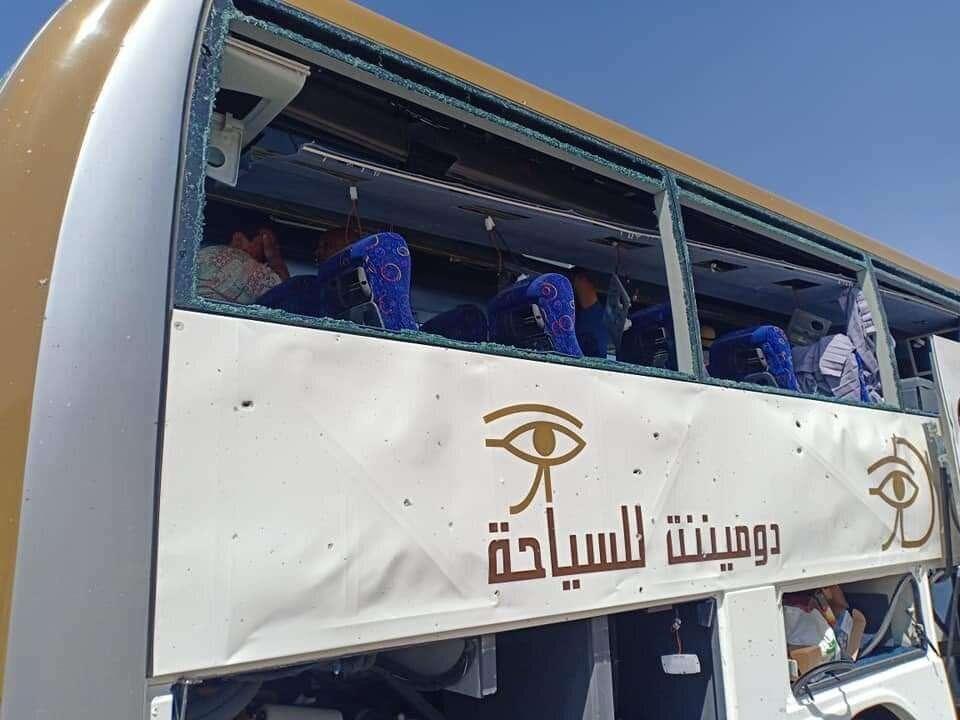 Photos: At least 17 injured in Egypt tourist bus blast