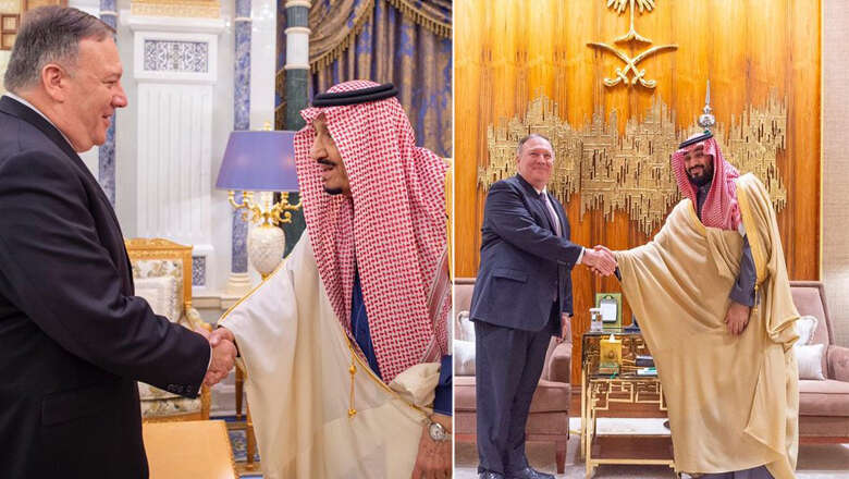 us secretary pompeo, meet, saudi king, crown prince, america, trump, saudi