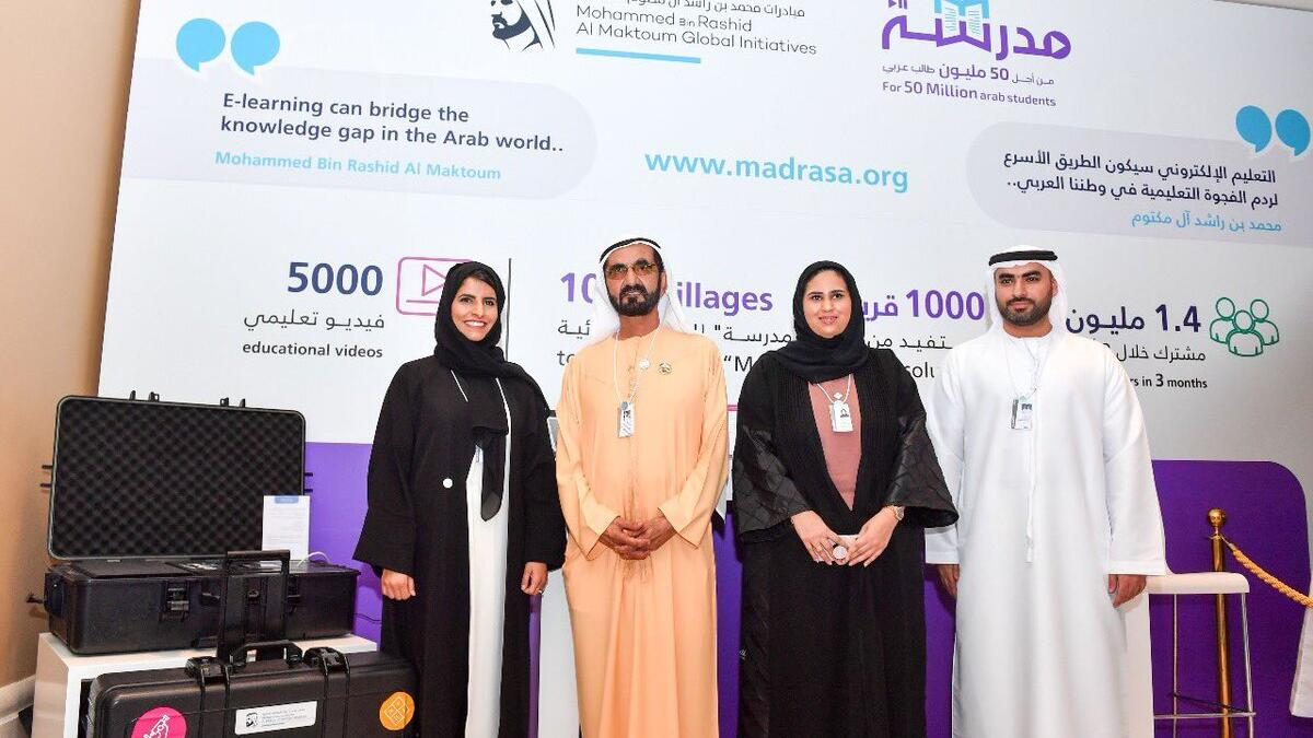 Sheikh Mohammed launches learning platform for students without internet