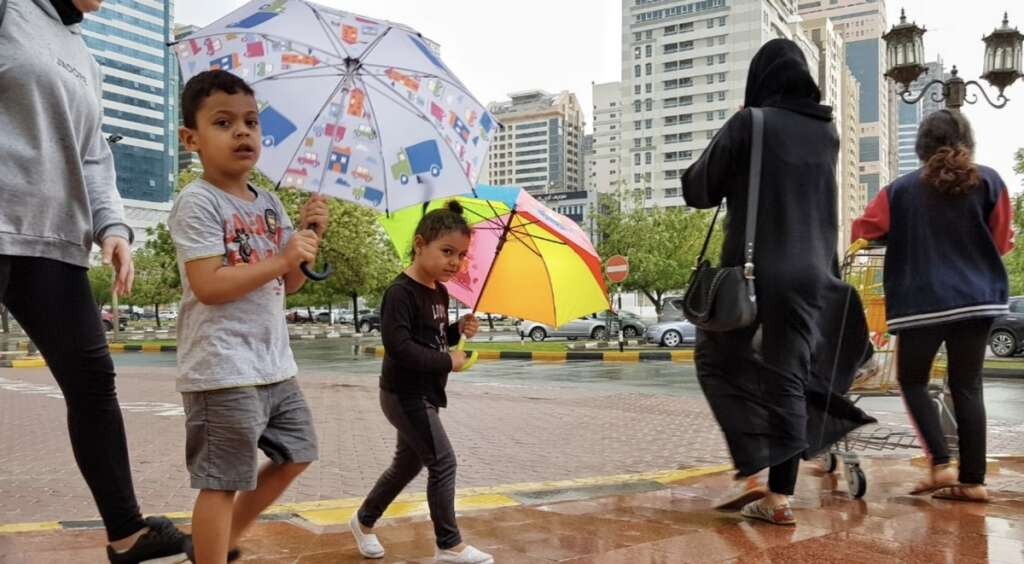 Video: Light to moderate rainfall hits parts of UAE