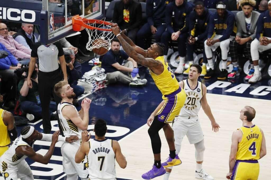 Sabonis shines as Pacers halt Lakers win streaks