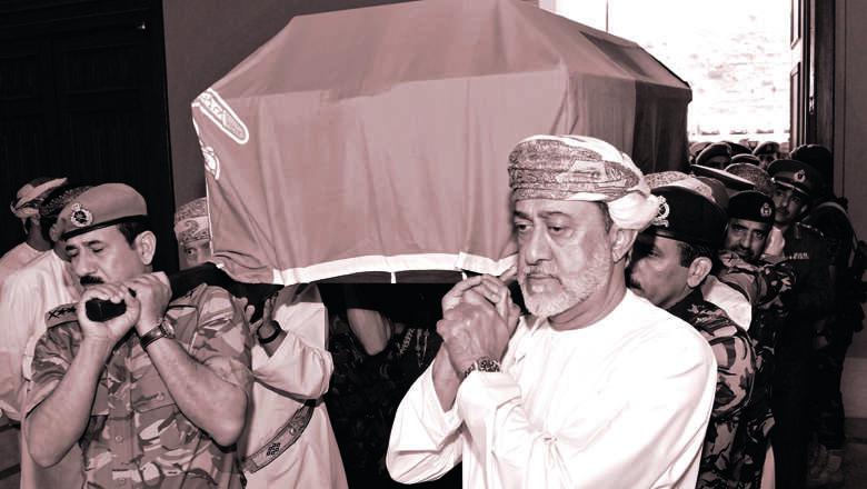 qaboos, oman, mourn, leader, sultan