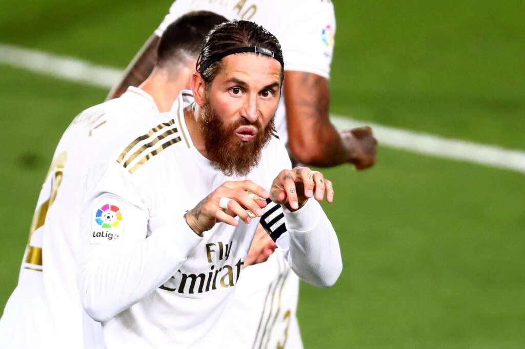 Real Madrid, step, towards, winning, La Liga, beating, Getafe, 1-0, Sergio Ramos, Zinedine Zidane
