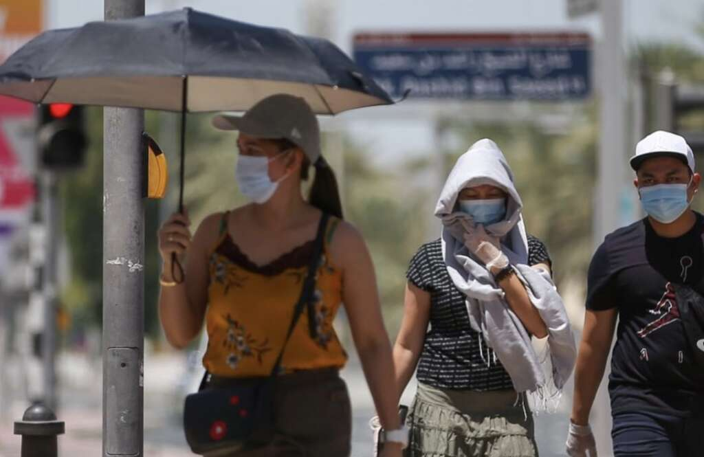 weather, Hot, dusty day, temperatures