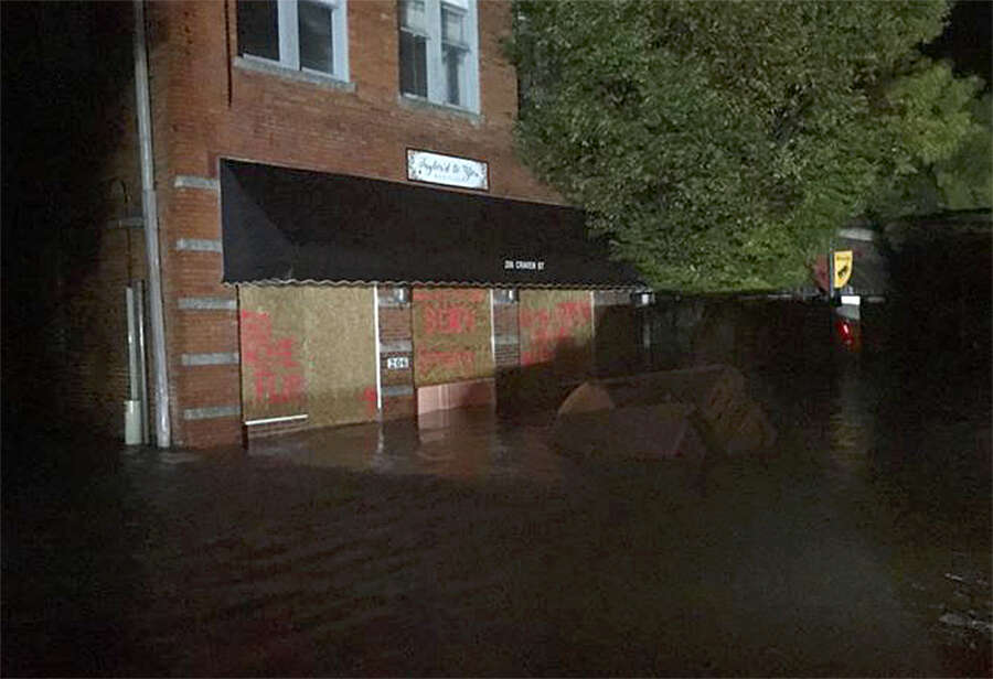 Hundreds rescued in North Carolina city as waters rose