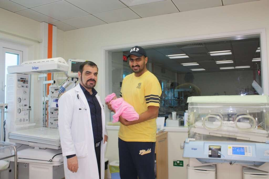 Born small at just 600g, baby girl Noura now has a big chance at life