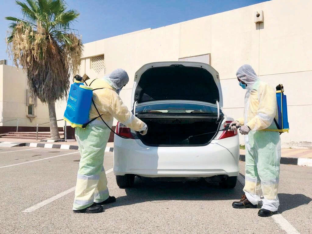 Umm Al Quwain, municipality, disinfectants, passengers, safe, operation, taxis, cabs, infection