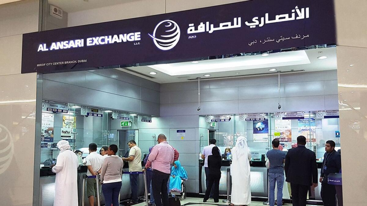Al Ansari Exchange, the UAE-based foreign exchange and worldwide money transfer company, accounts for over 36 per cent of the local market share. — File photo