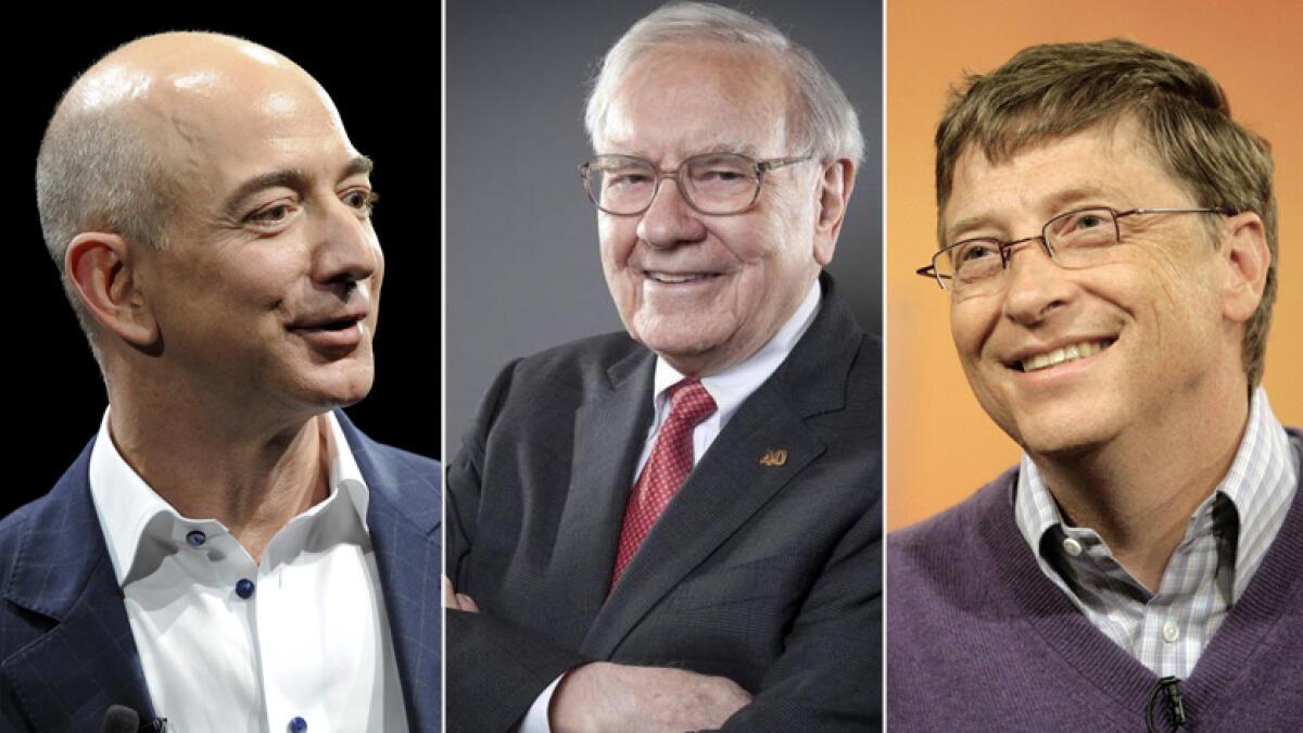 Bezos, Buffett, Gates are the worlds leading billionaires