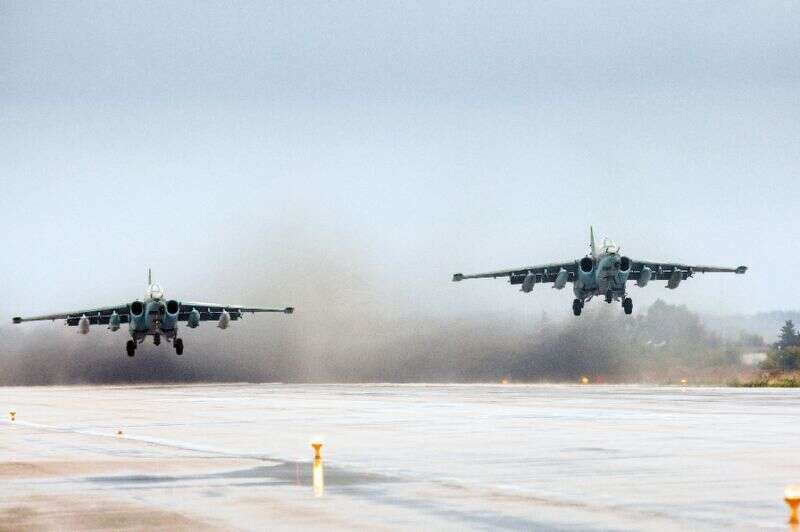 Russian military plane crashes on take-off in Syria, crew killed