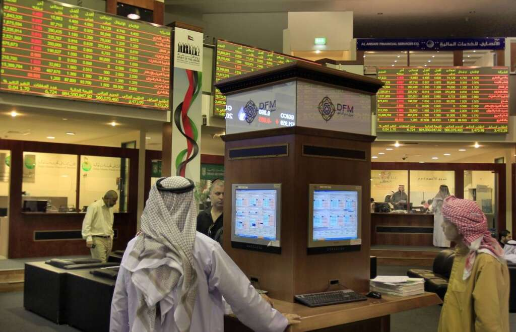 Dubai Financial Market, DFM, trading floor, covid-19, coronavirus