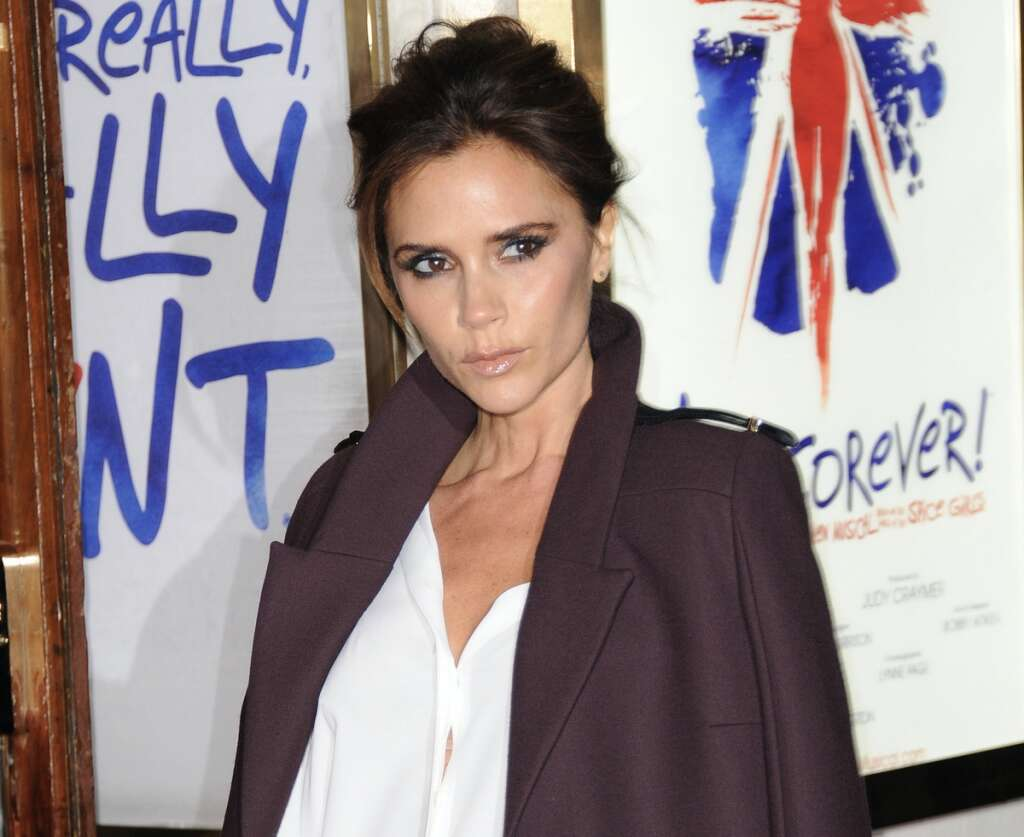 Victoria beckham at world of fashion in mall of the emirates weekend october thursday