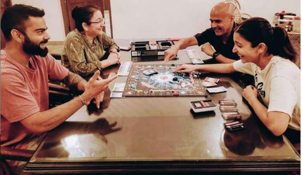 Anushka Sharma, Virat Kohli, board game, Monopoly, Instagram, coronavirus, lockdown