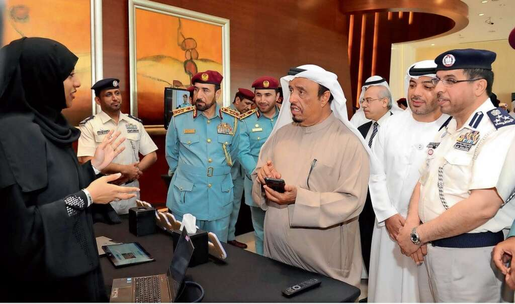 Lt. Gen. Dhahi Khalfan Tamim during the Human Rights Forum organised by the Ministry of Interior in Dubai on Sunday.— Wam