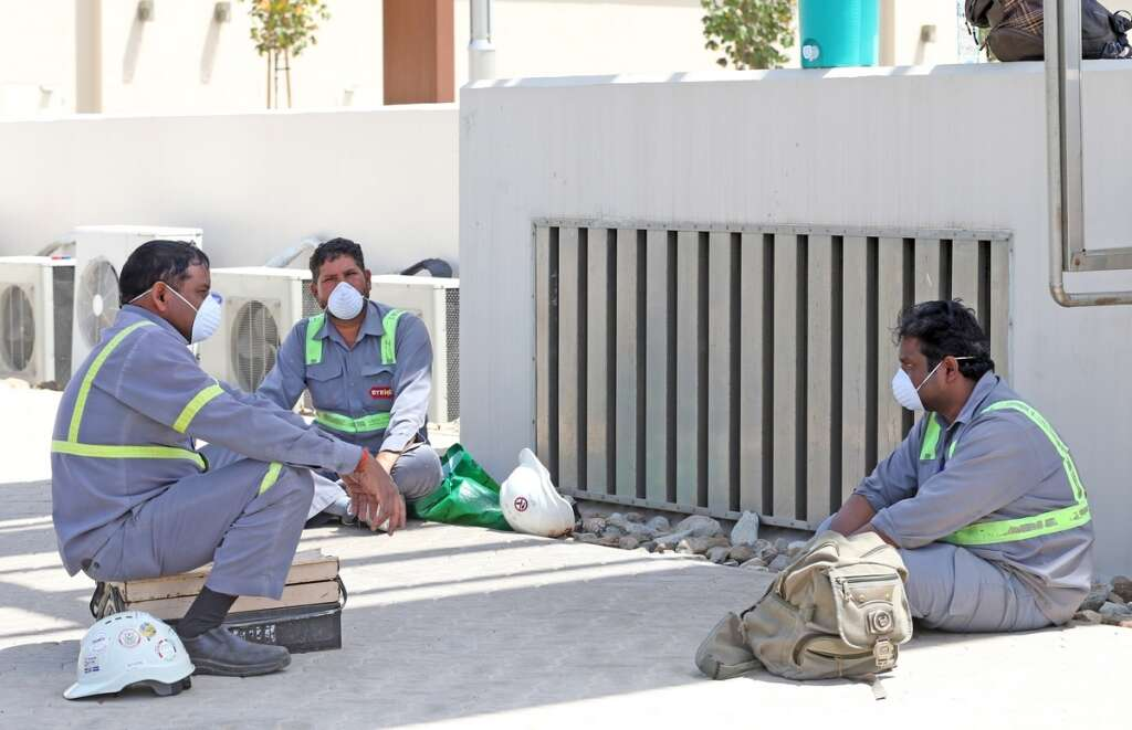 Covid-19, combating, coronavirus, UAE, ensuring, safety, blue-collared, workers