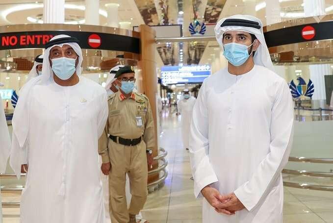 sheikh hamdan, dubai airport, DXB, covid-19, coronavirus
