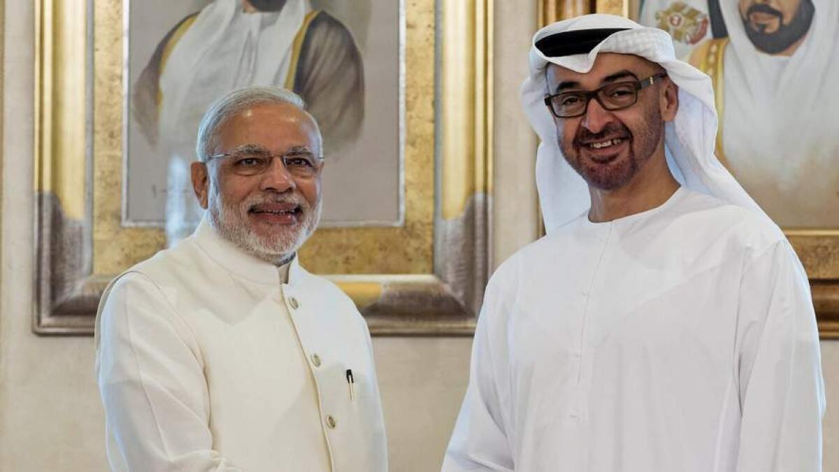 Sheikh Khalifa awards Zayed Medal to Indian PM Modi