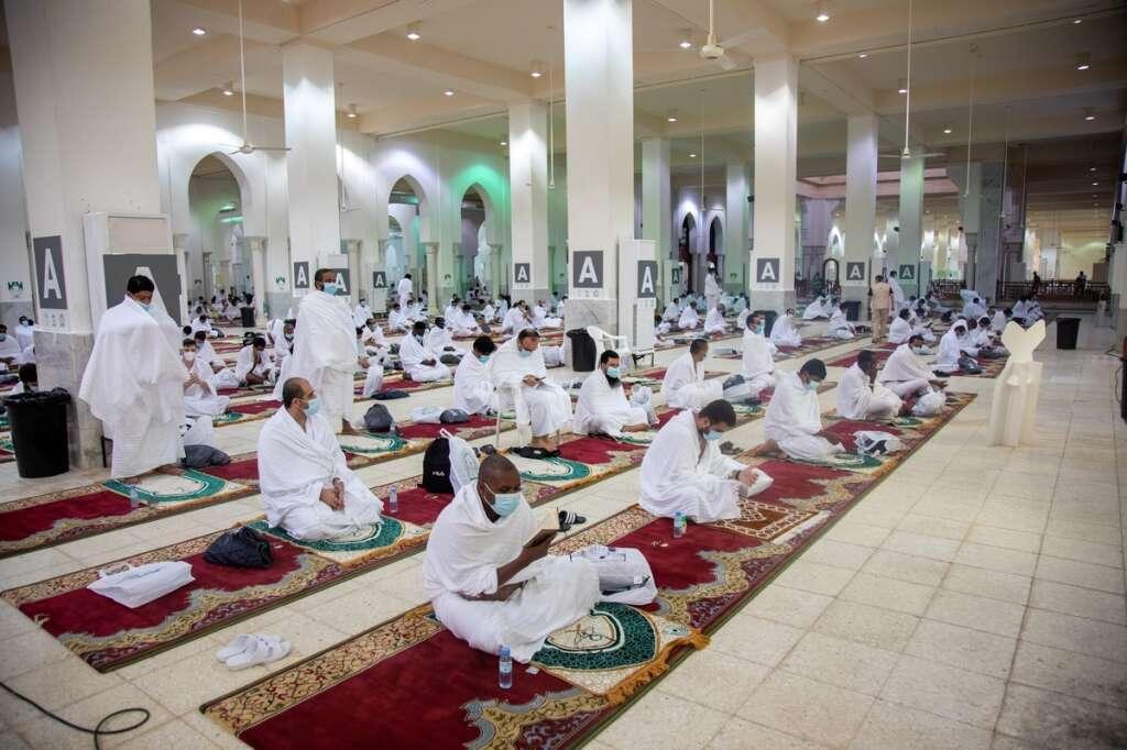 Masked, pilgrims, Haj 2020, scaled, Saudi Arabia