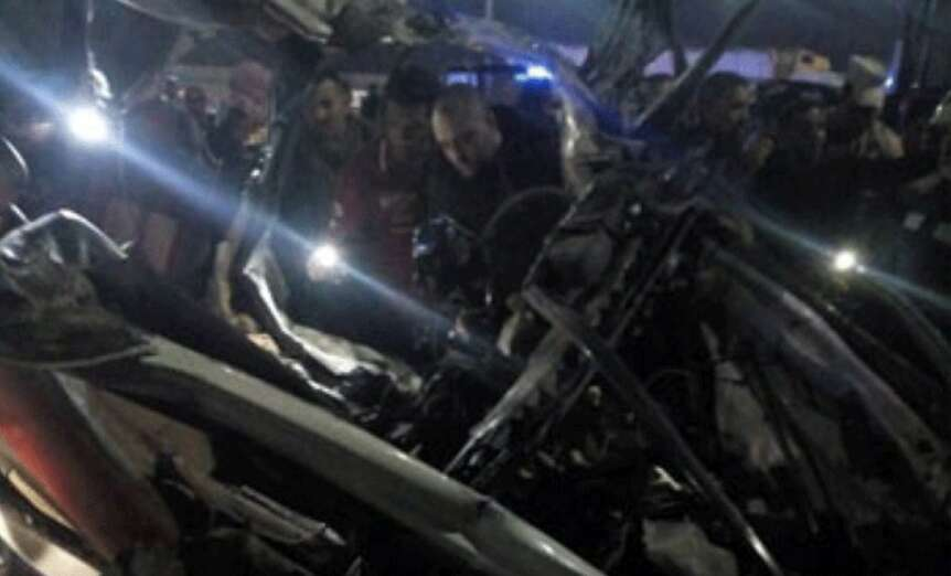 bus accident, truck accident, road accident, Cairo, Egypt, Shorouk city