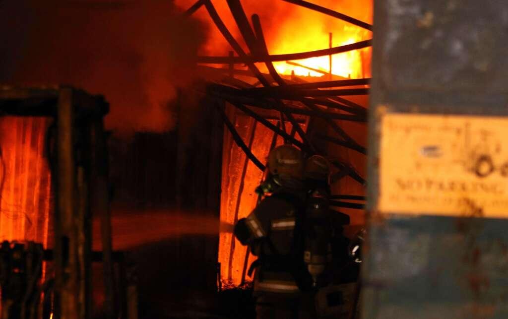 WATCH: Six warehouses gutted in Sharjah fire
