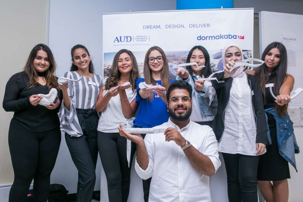 Students of AUD participate at a design competition supported by Dormakaba.