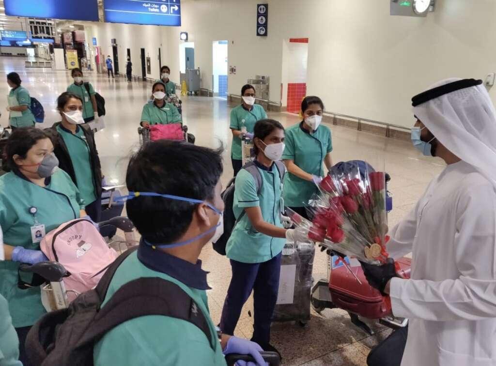 Combating, covid19, coronavirus, Medical team, India, UAE,