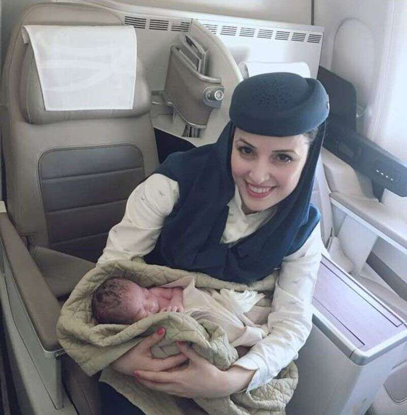 Baby born in flight; will he get free tickets for life?