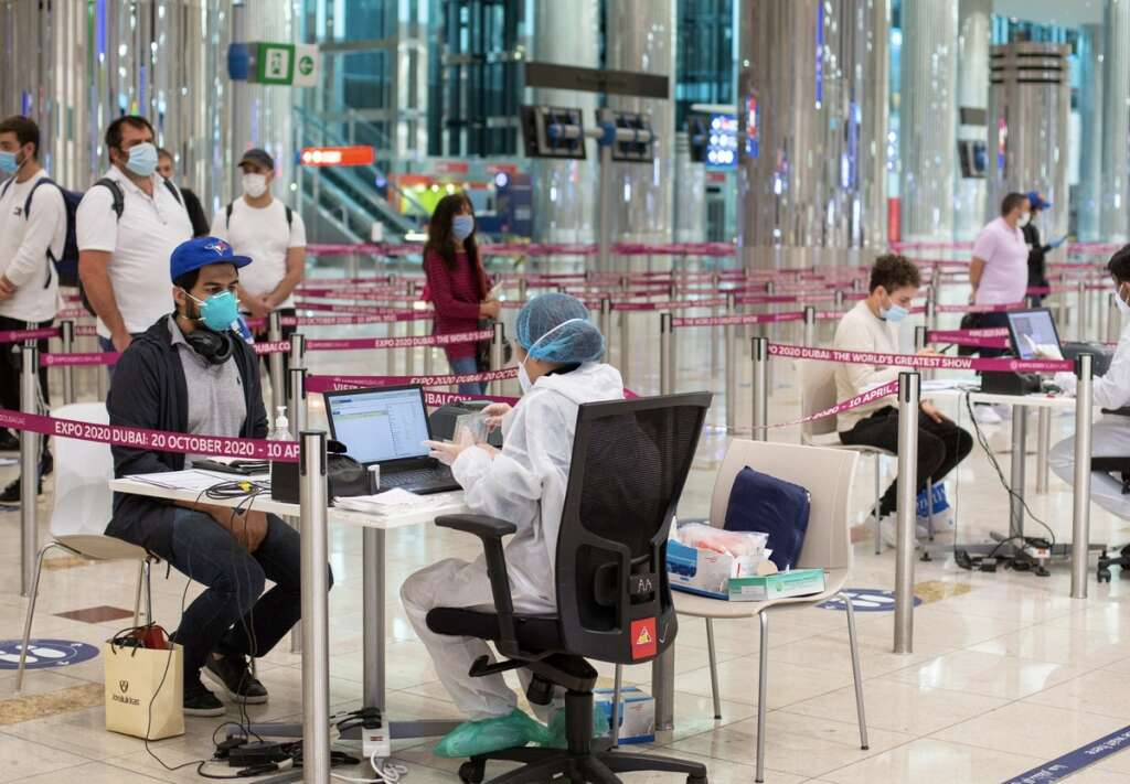 PCR result, UAE, India, irates Airlines, Etihad Airways, and Air India Express