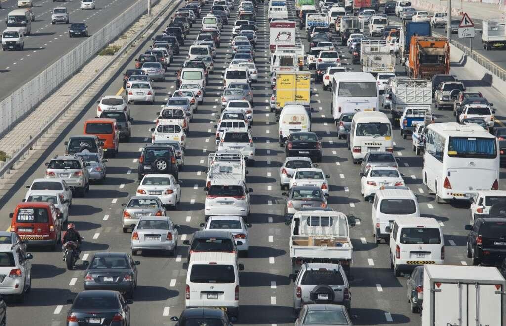 traffic jam, Accident, Dubai, Rashid Road