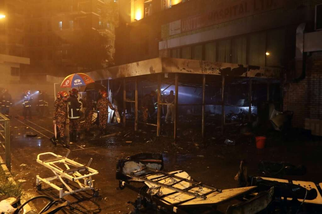 Bangladesh Fire Service, investigation, fire, burned down, isolation unit, United Hospital, Dhaka, coronavirus, Covid-19, patients