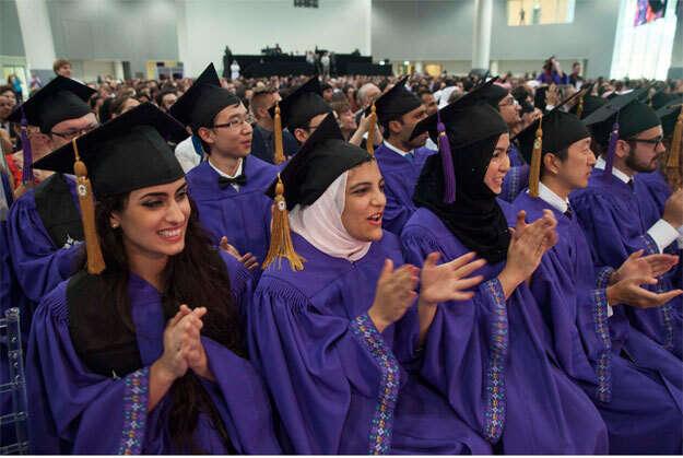 Set aside all differences, Clinton tells NYU Abu Dhabi graduates